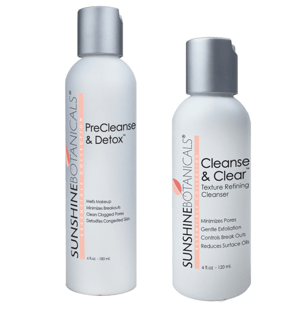 Sunshine Botanical's PreCleanse & Detox and Cleanse & Clear facial cleanser - botanical skincare with natural ingredients
