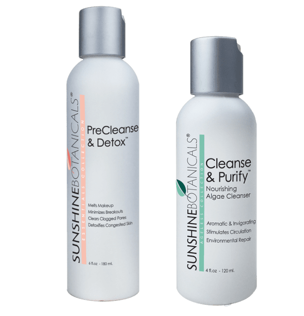 Sunshine Botanical's PreCleanse & Detox and Cleanse & Purify facial cleanser - botanical skincare with natural ingredients