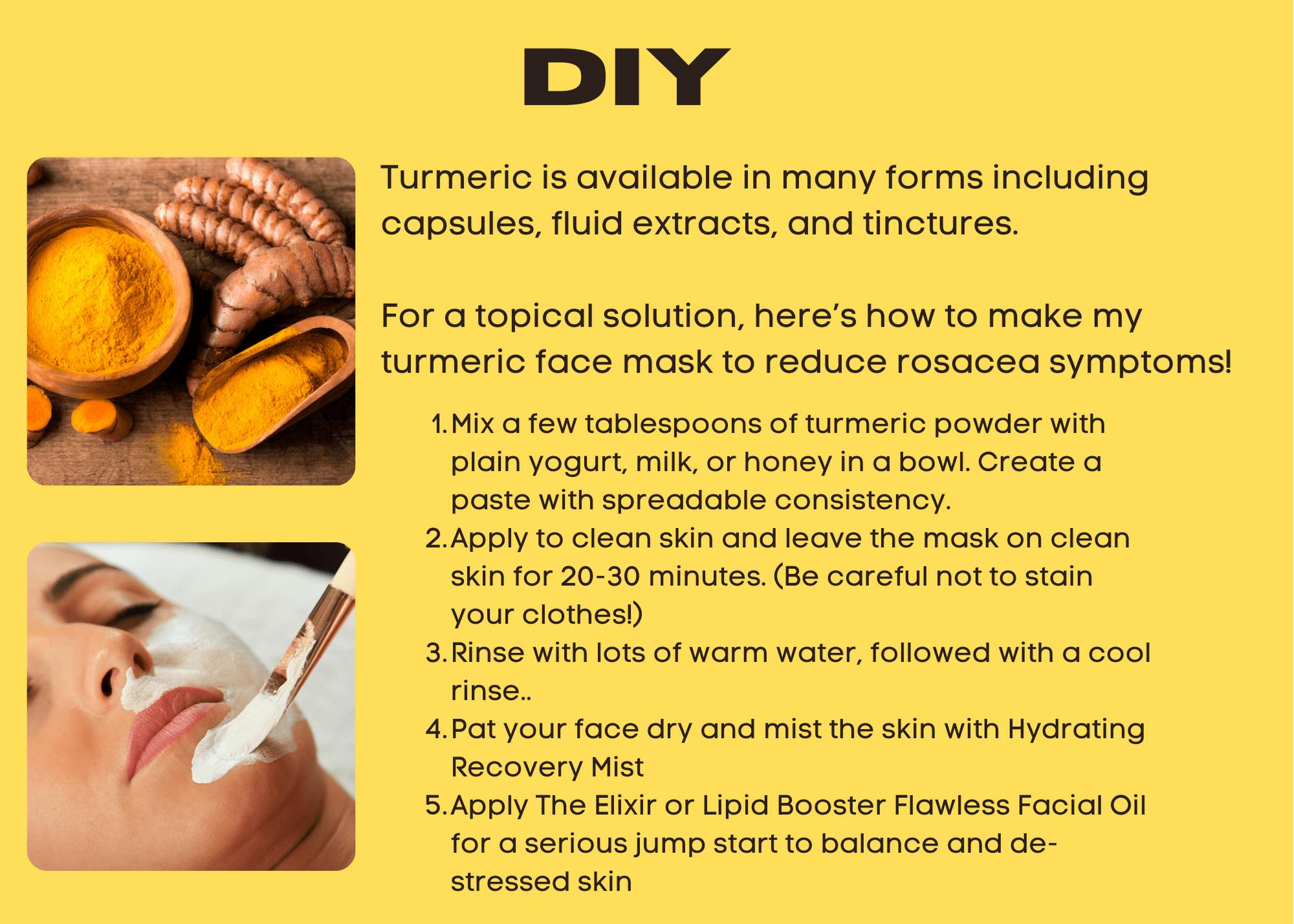 DIY Turmeric Face mask to de-stress skin